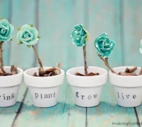 how to upcycle cheap flower pots, container gardening, crafts, gardening, Project via Chelsea Making Home Base