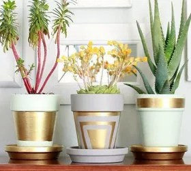 how to upcycle cheap flower pots, container gardening, crafts, gardening, Project via Christine The Crafty Woman