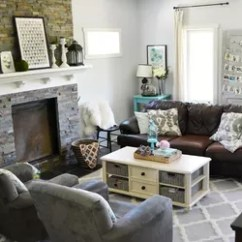 Living Rooms With Grey Couches Ethan Allen Room Furniture A Vintage Industrial Country Summer Home Tour | Hometalk