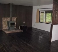 Hardwood Floor, Wall Panelling and Fireplace Makeover ...