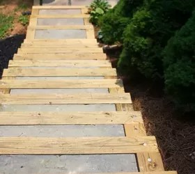 diy outdoor staircase hometalk