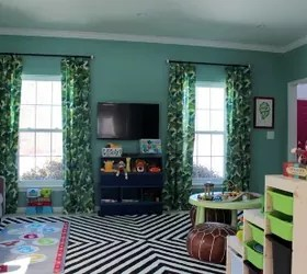 Wallpapered Formal Living Room Becomes a Playful Toy Room