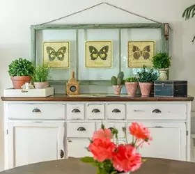 Thow To Turn Old Window Frames Into Botanical Butterfly Wall Art