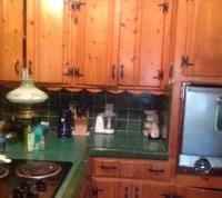 Painting knotty pine cabinets | Hometalk