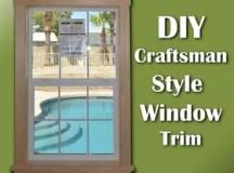 Super Easy DIY Craftsman Style Window Trim   Hometalk