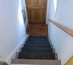 A Diy Stair Runner Using Ikea Rugs Hometalk | Carpet Stair Treads Ikea