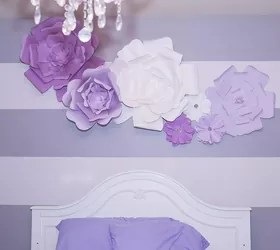 Diy Large Paper Flowers Wall Decor And Above Bed Hometalk