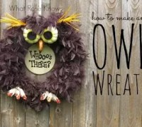 Spooky Owl Wreath for Halloween | Hometalk
