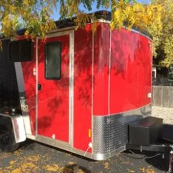 Chair Folds Into Bed Salon Parts Cargo Trailer Camper Conversion | Hometalk