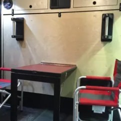 Aluminum Directors Chair Rolling Desk With Locking Wheels Cargo Trailer Camper Conversion   Hometalk