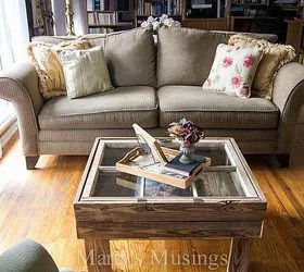 diy living room table decor in red how to make a rustic old window coffee hometalk home