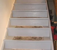 DIY Make Your Painted Staircase Look Like Real Wood Again ...