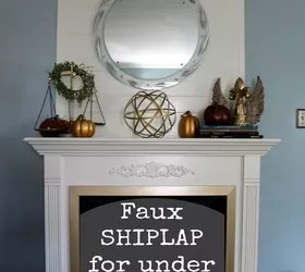 Cheap and EASY Faux SHIP LAP Fireplace Makeover DIY FixerUpperStyle  Hometalk