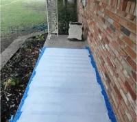 Easy Painted Concrete Rug | Hometalk