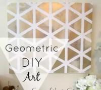 Geometric Heart Art   Hometalk