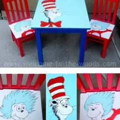 Dr Seuss Chair Unusual Shaped Table Chairs Hand Painted Kids Furniture Hometalk