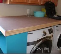 How to Turn a Door Into a Laundry Room Table #DIY #BuildIt ...