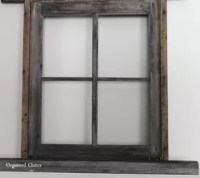 Anchoring A Christmas Mantel With An Old Weathered Window ...