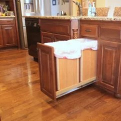 Kitchen Trash Can Pull Out Home Dog Food Diy And Recyling Bin Hometalk