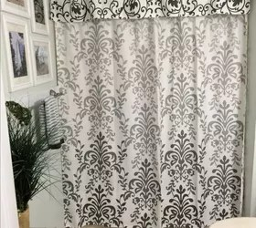 No Sew Shower Curtain Valance In No Time  Hometalk