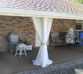 how to make an outdoor curtain rod for very little money outdoor ... - Outdoor Patio Curtains Ideas