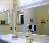 Bathroom Mirror Framed with Crown Molding | Hometalk
