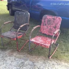 Vintage Lawn Chair Barrel Table And Chairs Painted Reno Hometalk Furniture Outdoor