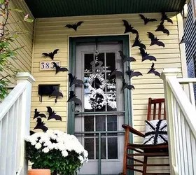 Cute Halloween Bat Wallpaper Bats On The Door Decor For Halloween Hometalk