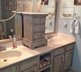 refinish kitchen countertop cabinet locks bathroom vanity makeover with annie sloan chalk paint ...