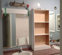 Large Bathroom Mirror redo to double framed mirrors and ...