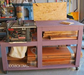 Table Saw Workbench With Wood Storage Hometalk