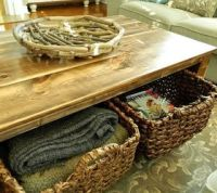 DIY Rustic Coffee Table with Storage in About 3 or 4 Days ...