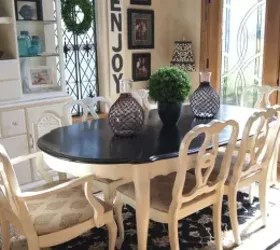 recover dining room chairs egg shaped swing chair table makeover   hometalk