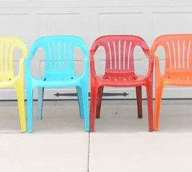 how to paint plastic chairs conference room with wheels bring new life your old krylon spray painted furniture