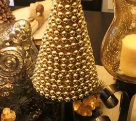 Easy Peasy DIY Christmas Tree With Gold Beads  Hometalk