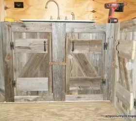 salvaged kitchen cabinets bar furniture made from reclaimed barnwood ...