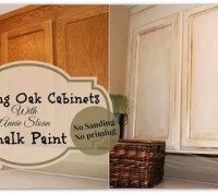 Painting Over Oak Cabinets Without Sanding or Priming ...