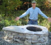 Outdoor Wood Burning Oven, Grill and Fire Pit - All in One ...