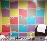 Colorful Playroom Accent Wall   Hometalk