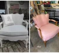 Elegant Gray Painted Fabric Chair | Hometalk