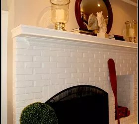 want to decorate my living room furniture dining painting brick fireplace white | hometalk