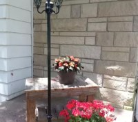 Repurposed Lamps Into Patio Solar Lights | Hometalk