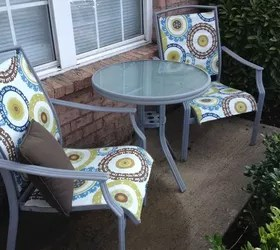 redo sling patio chairs sleek dining room for under 25 hometalk outdoor furniture chair tables budget painted