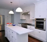 Painted White Kitchen Cabinets for an Elegant Country ...