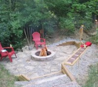 Creating a Creek Stone Patio & Fire Pit | Hometalk