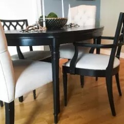 Painted Tables And Chairs Vitra Eames Lounge Chair Ottoman Dining Room Update Painting Table Hometalk Ideas Furniture Reupholster