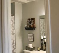 Striped bathroom ceiling | Hometalk