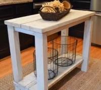 Rustic Reclaimed Wood Kitchen Island Table | Hometalk