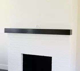 Red Brick Fireplace Makeover Painting Our Red Brick Fireplace White | Hometalk