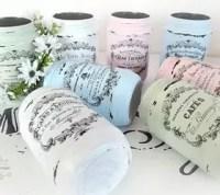 Shabby French Painted Jars | Hometalk